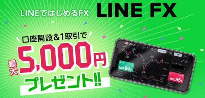 LINE FXキャンペーン 最大5000円をもらうやり方